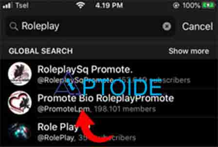roleplay promote telegram