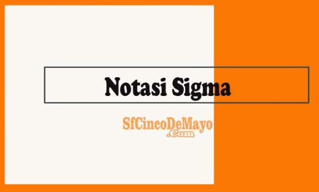 Notasi Sigma