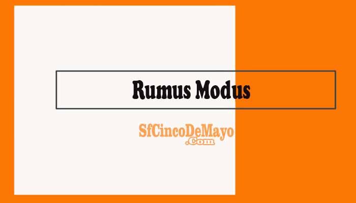 Rumus Modus
