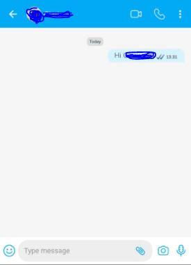 cara kirim pesan di BiP